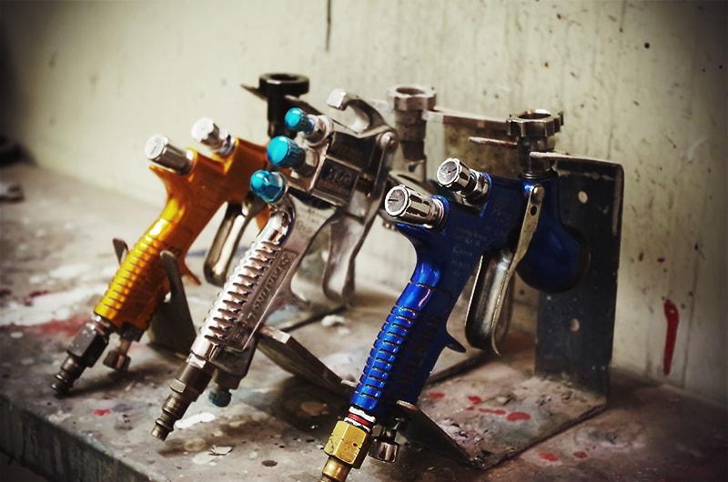 Les pistolets peinture de la restauration automobile